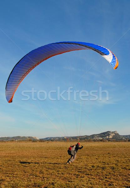 Siklórepülés fut mező képzés Stock fotó © cynoclub
