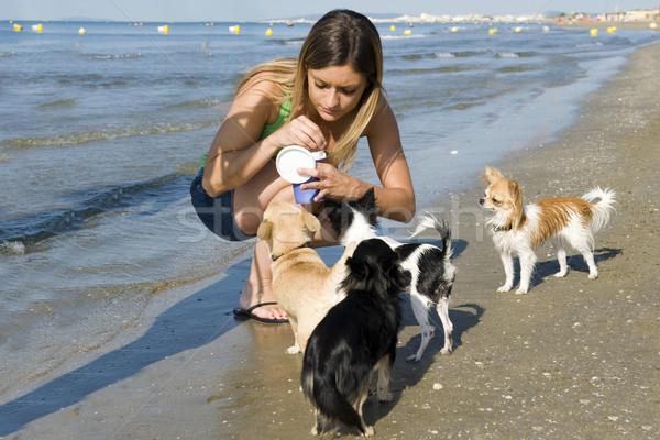 Сток-фото: девушки · пляж · портрет · Cute