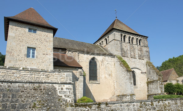 church of Moutier d'Ahun Stock photo © cynoclub