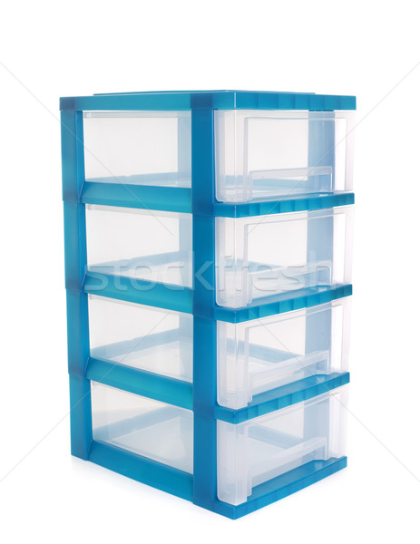 Kastje tool plastic container object opslag Stockfoto © cynoclub
