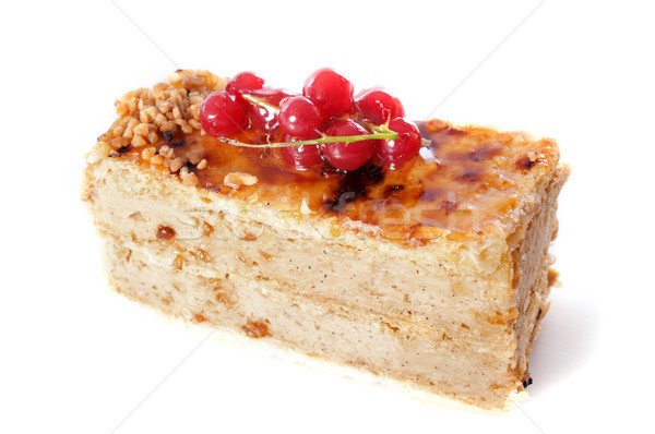 praline cake with red currants Stock photo © cynoclub