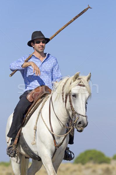 herdsman on Camargue Stock photo © cynoclub