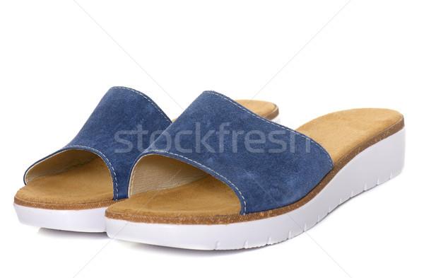 Kobieta sandały studio moda buty Zdjęcia stock © cynoclub