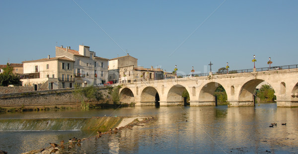 french bridge in sommieres Stock photo © cynoclub