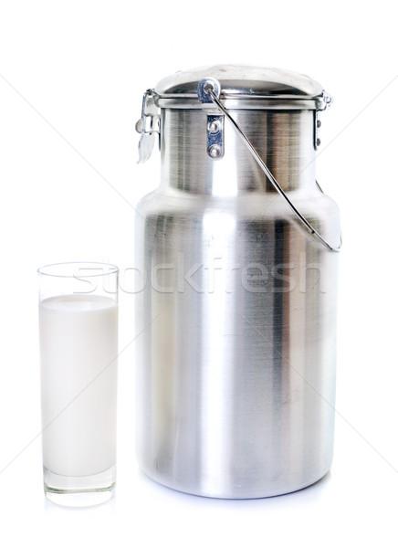 milk churn and glass Stock photo © cynoclub