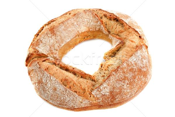 Pão pão branco comida alimentação círculo Foto stock © cynoclub
