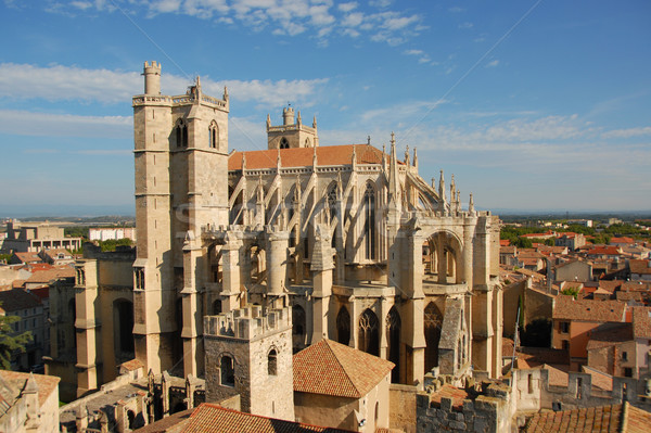 Cathedral St Just and Pasteur of Narbonne Stock photo © cynoclub