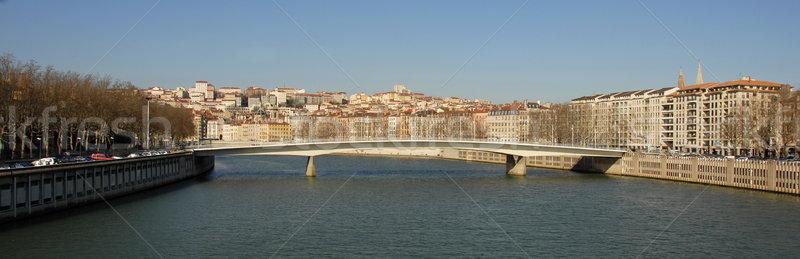Lyon városkép kilátás folyó Franciaország ház Stock fotó © cynoclub