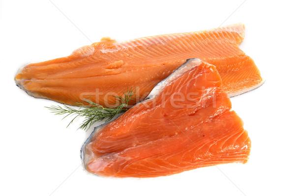Trucha salmón filete blanco alimentos rojo Foto stock © cynoclub