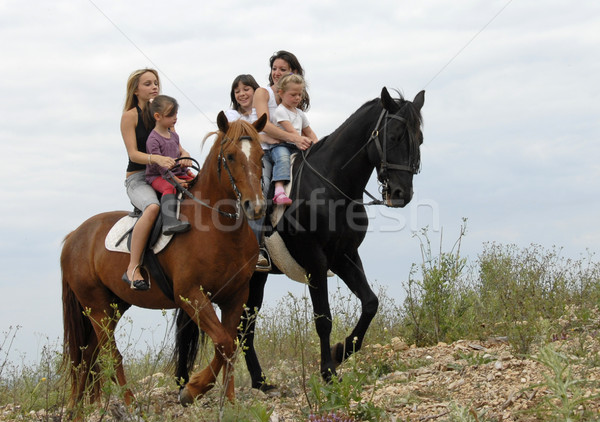riding family Stock photo © cynoclub