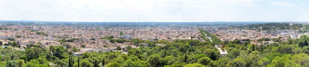 panorama of Nimes Stock photo © cynoclub