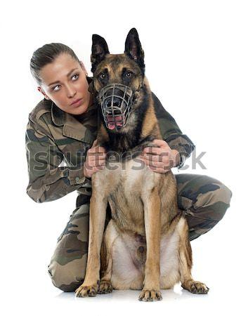 Donna soldato ragazza formazione esercito militari Foto d'archivio © cynoclub
