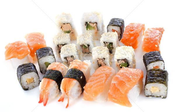 Assortiment sushis japonais studio saumon fruits de mer Photo stock © cynoclub