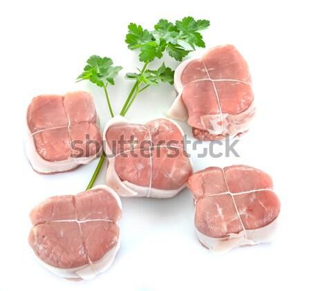 Ternera estudio alimentos barbacoa carne de vacuno aislado Foto stock © cynoclub