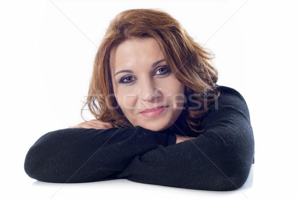 smiling woman Stock photo © cynoclub