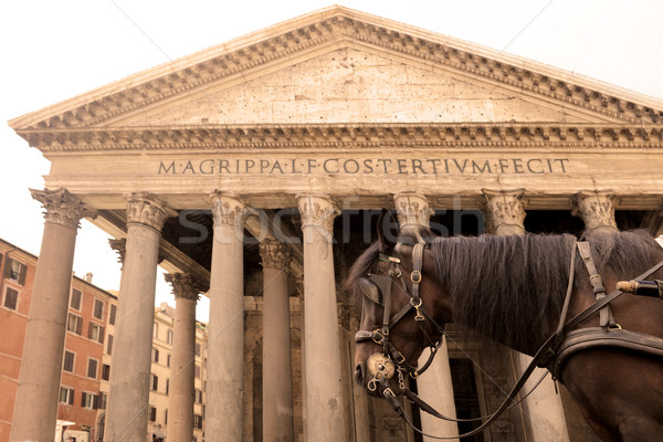 horse carriage and Pantheon Stock photo © cynoclub