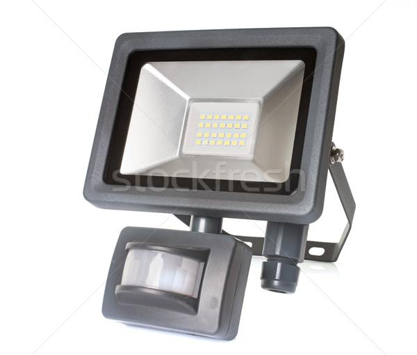Spotlight beweging sensor witte Stockfoto © cynoclub