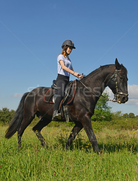 young riding girl Stock photo © cynoclub