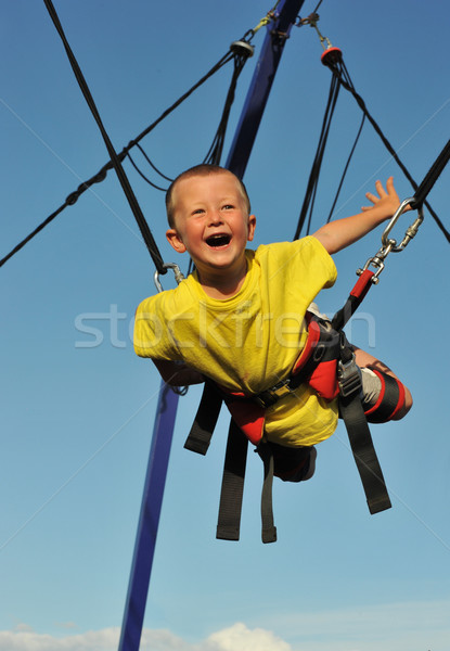 Springen weinig jongen trampoline baby gelukkig Stockfoto © cynoclub