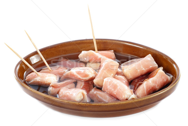 Tapas spek kaas geitenkaas witte vlees Stockfoto © cynoclub