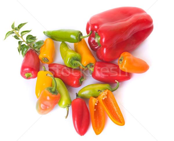 colorful sweet pepper in studio Stock photo © cynoclub