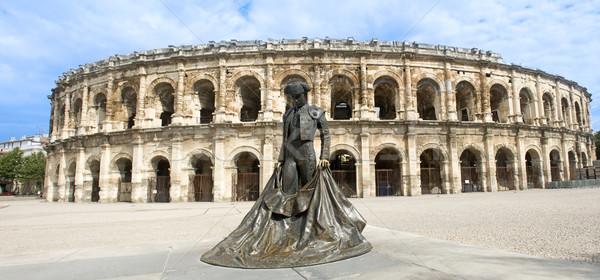 Amfitiyatro Roma mimari kasaba heykel stadyum Stok fotoğraf © cynoclub
