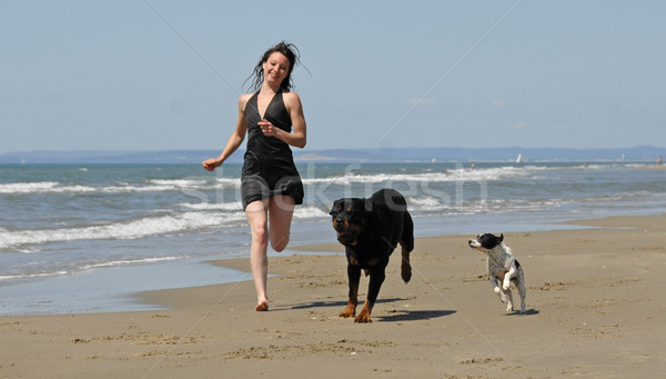 running on the beach Stock photo © cynoclub