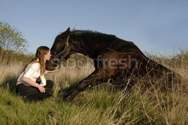 Amistad semental jóvenes adolescente amor beso Foto stock © cynoclub
