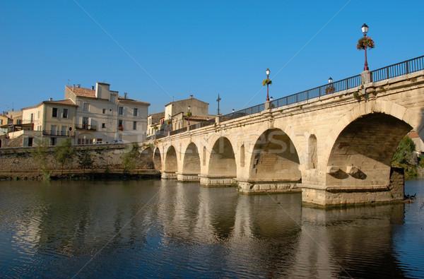 sommieres bridge Stock photo © cynoclub