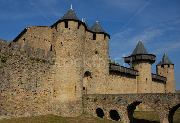 Carcassonne, medieval city Stock photo © cynoclub