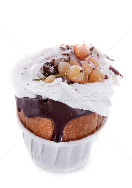 Ippocastano torta cioccolato panna montata studio dessert Foto d'archivio © cynoclub