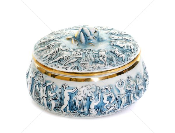 porcelain candy box Stock photo © cynoclub