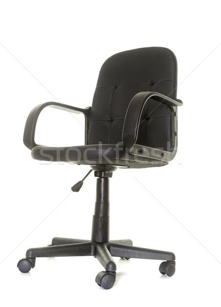 офисные кресла студию белый черный работу кожа Сток-фото © cynoclub