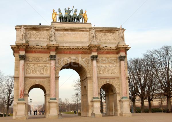 Arc de Triomphe du Caroussel, Paris Stock photo © cynoclub