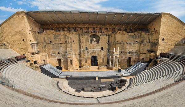 Antica romana teatro arancione meridionale Francia Foto d'archivio © cynoclub