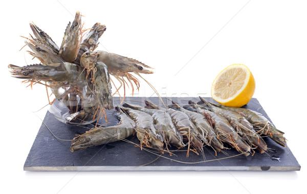 Fruto prato fresco frutos do mar camarão Foto stock © cynoclub
