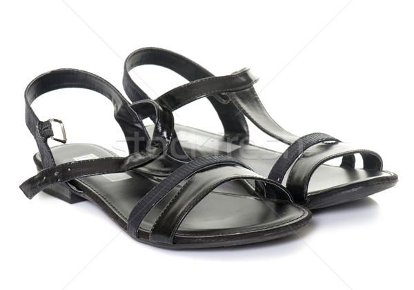 black sandals in studio Stock photo © cynoclub