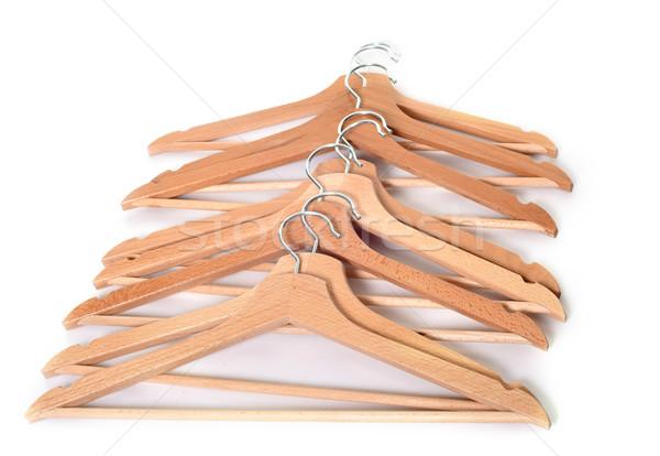 Jas studio hout groep kleding Stockfoto © cynoclub
