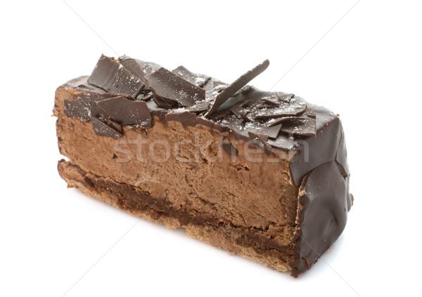 Csokoládés sütemény stúdió fehér torta desszert krém Stock fotó © cynoclub