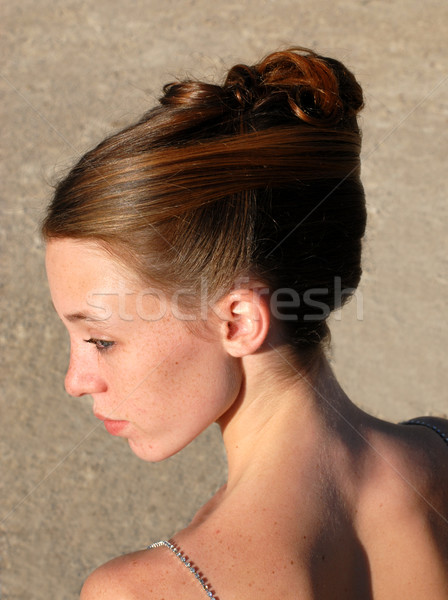 Jonge vrouw mooie kapsel ceremonie liefde Stockfoto © cynoclub