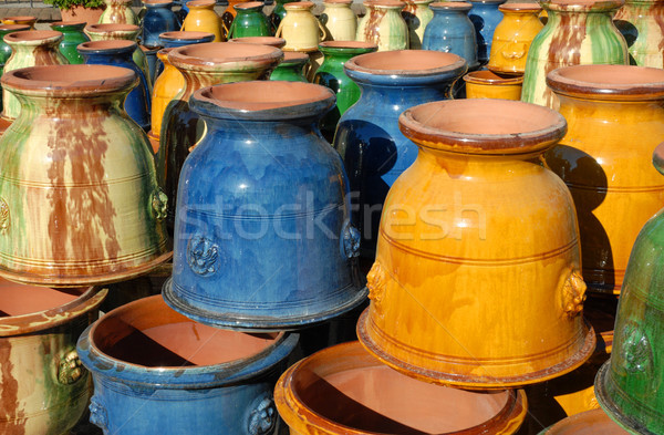 colorful earthenware vases Stock photo © cynoclub