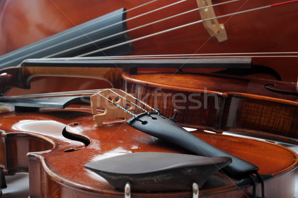 Cello twee studio hout boeg Stockfoto © cynoclub