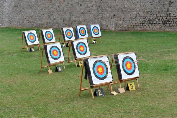 Okçuluk alan eğitim yay spor başarı Stok fotoğraf © cynoclub