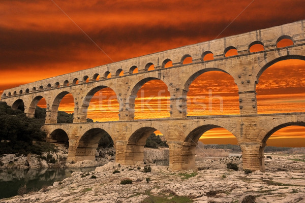 Pont du Gard  Stock photo © cynoclub