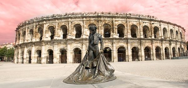 Amfiteátrum római építészet város szobor stadion Stock fotó © cynoclub