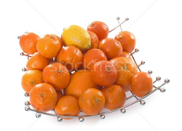 citrus fruit in fruit bowl Stock photo © cynoclub