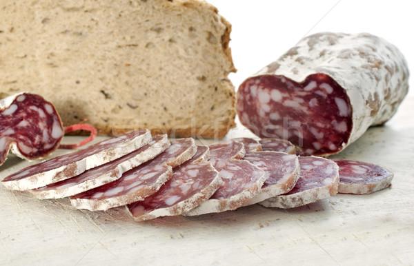 saucisson and bread Stock photo © cynoclub