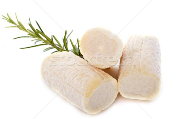 Сыр из козьего молока белый продовольствие молоко коза белом фоне Сток-фото © cynoclub