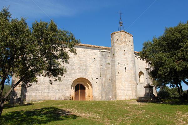 church Saint-Sylvestre des Brousses ,puechabon Stock photo © cynoclub