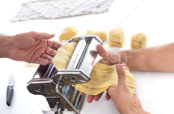 Using a pasta maker  Stock photo © cynoclub